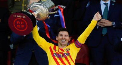 أول تعليق لميسي بعد تتويج برشلونة بكأس إسبانيا image