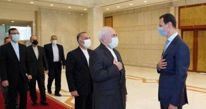 الأسد يبحث مع ظريف تعزيز التعاون في مختلف المجالات image