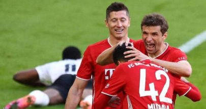بدون مباراة.. بايرن ميونيخ بطلا للدوري الألماني رسميا image