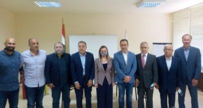 اوهانيان استقبلت رئيس نادي الانصار وممثلي الاتحادت الرياضية image