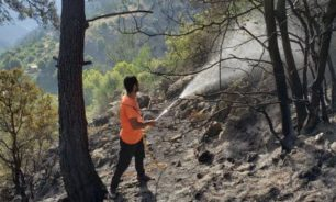 السيطرة على حريق كبير اندلع في غابات حقل الخربة عكار image