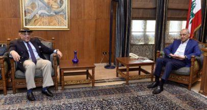 بري عرض والسفير المصري الاوضاع العامة في لبنان image