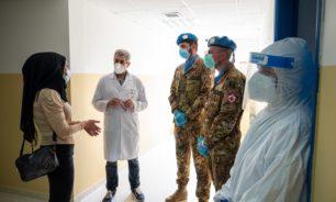 جولة للطاقم الطبي في الكتيبة الايطالية على المستشفيات الحكومية image