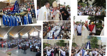 آلاف المؤمنين يحجون الى بيت مريم في حريصا image