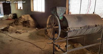 الجيش: دهم مزرعة في بعلبك وضبط معملاً لتصنيع المخدرات image