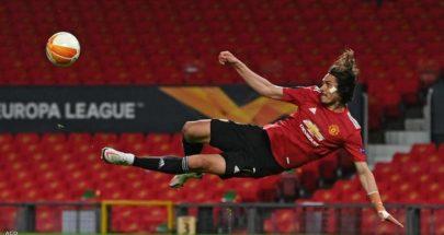 كافاني يمدد عقده مع مانشستر يونايتد image