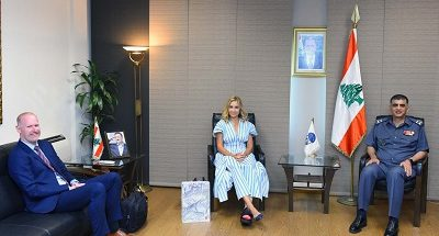 لقاء بين اللواء عثمان والسفيرة السويسرية في لبنان image
