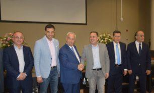 حواط هنأ حرب في مقر نقابة المهندسين في طرابلس image