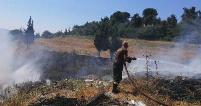 الدفاع المدني أخمد حريقا في بلدة عيات العكارية image