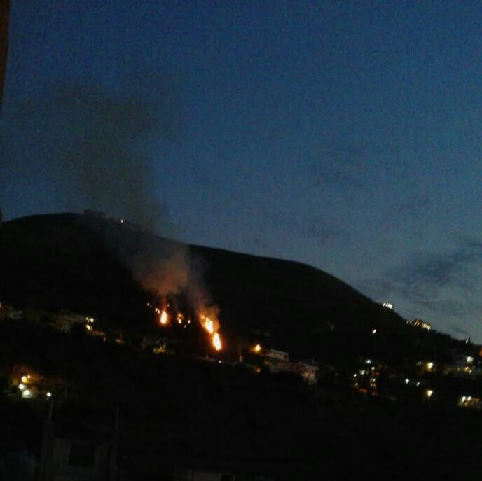 حريق في منطقة خريبة الجندي بعكار