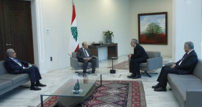 رئيس الجمهورية التقى رئيس الطائفة الانجيلية في لبنان وسوريا image