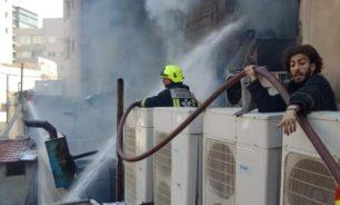 بالفيديو: حريق كبير في منطقة الروشة.. image