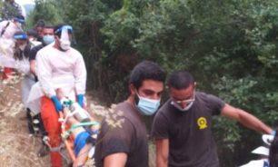 إنقاذ شابين سقطا في وادي ملتقى النهرين image