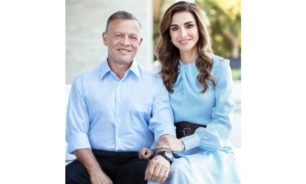 رسالة رومانسية من الملكة رانيا للعاهل الأردني image