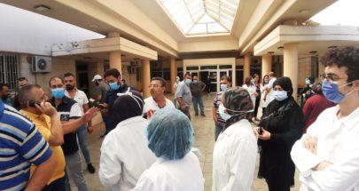 اعتصام للطاقم الإداري والطبي والتمريضي في مستشفى الهراوي image