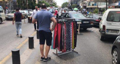 قطع الطريق بالملابس والبضائع في رياض الصلح ! image