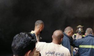 حريق في جبل البداوي داخل مستودع image