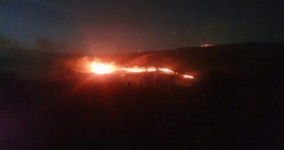 بالصورة: قنابل اسرائيلية على الحدود اللبنانية.. وحريق كبير image