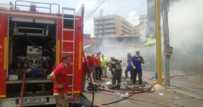 بالصور: فوج اطفاء الضاحية يتصدى لحريق ضخم في منطقة بئر حسن - الرحاب image