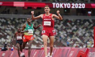 المغربي سفيان البقالي يتوج بذهبية سباق 3000 متر موانع image
