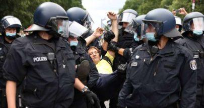 صدامات في برلين خلال تظاهرات رافضة لتدابير الإغلاق image