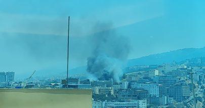 اندلاع حريق في منطقة المكلس(صورة في الداخل) image