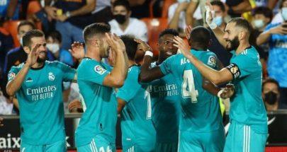 ريال مدريد ينتفض أمام فلنسيا ويقفز لصدارة الدوري الإسباني image