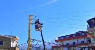 إعادة التيار الكهربائي إلى محطة سرقت سابقا في كفرشلان الضنية image