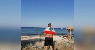 لبناني يحقق حلمه ويصل جزيرة الأرانب سباحة image