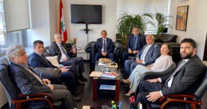 الوزير شرف الدين استقبل رئيس وأعضاء الصندوق المركزي للمهجّرين image