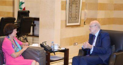 فرونتسكا اثر لقائها ميقاتي: الامم المتحدة مستمرة بمساعدة لبنان في المجالات كافة image