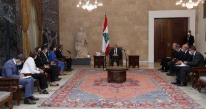 الرئيس عون اكد تقدير لبنان للمساعدات التي تقدمها منظمة الصحة العالمية image