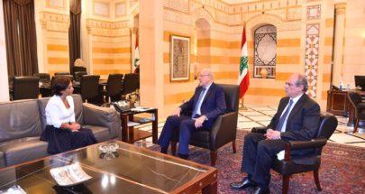 ميقاتي يعرض مع رشدي السبل الايلة لدعم الشعب اللبناني image