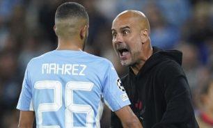 غوارديولا يصرخ وينفعل في وجه الجزائري محرز image