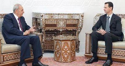 لقاء الأسد بري: هل ابتعدت عين التينة عن قصر المهاجرين؟ image