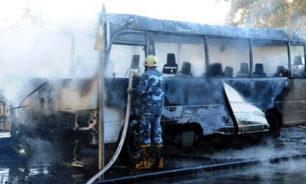 قتلى وجرحى جراء استهداف حافلة للجيش السوري وسط دمشق image