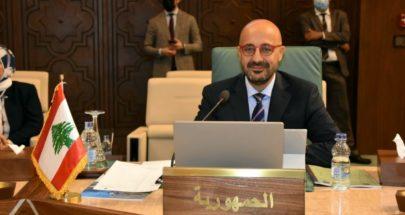 ياسين امام مجلس وزراء البيئة العرب يؤكد اهمية الاحتضان العربي لإنقاذ لبنان image