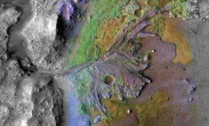 نهر قديم على سطح المريخ image