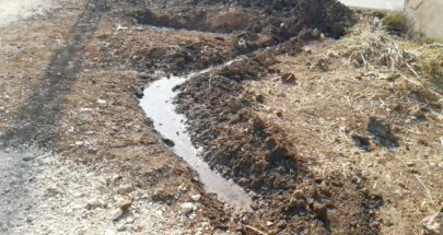 تسرب للمياه من انابيب النفط في ببنين العبدة image