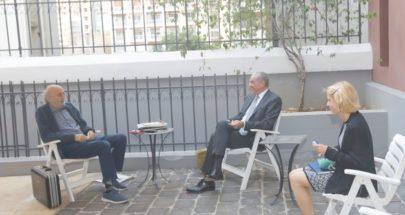 جنبلاط عرض وسفير الإتحاد الأوروبي التطورات السياسية image
