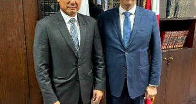 وزير الشؤون اجتمع مع ممثل الأمم المتحدة لشؤون اللاجئين image