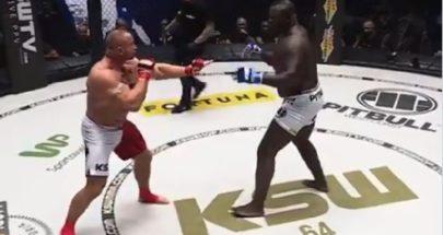 بالفيديو: مقاتل يطفئ الأنوار على منافسه بالضربة القاضية خلال 18 ثانية فقط image