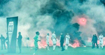 شغب جماهيري يؤخر انطلاق مباراة فرنسية image